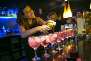 Copas para Gin Tonic en bar de copas