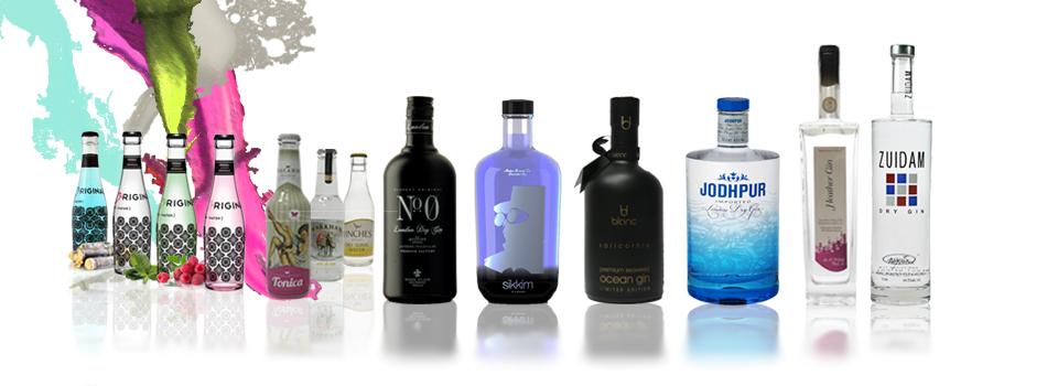 Selección de ginebras premium