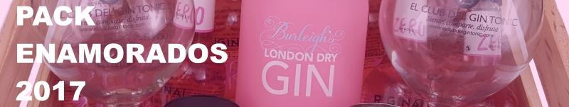 Pack Regalo enamorados gintonic con ginebra burleighs pink