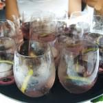 Copas y vasos para gintonic en cena con maridaje