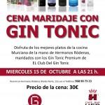 Cena maridaje de GinTonic en Murcia