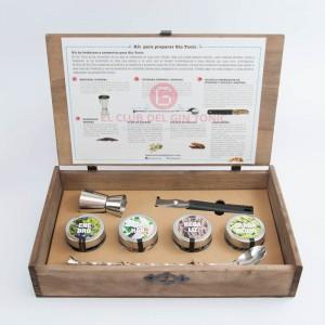 kit para preparar gin tonic