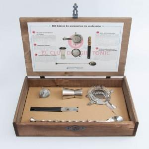 kit de accesrios para preparar gin tonic
