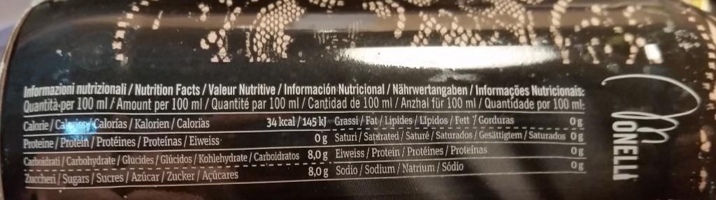 kalorias tónica Monelli