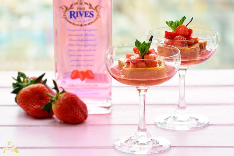 receta con ginebra Pink de Rives